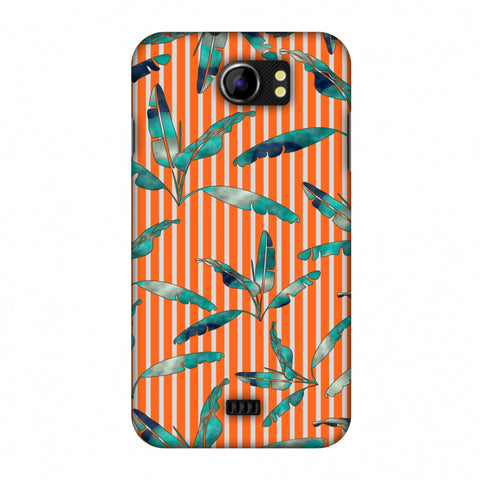 Gradiant Banana Leaves - Orange Slim Hard Shell Case For Micromax Canvas 2 A110