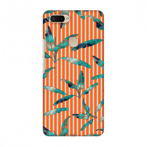 Gradiant Banana Leaves - Orange Slim Hard Shell Case For Vivo X20 Plus