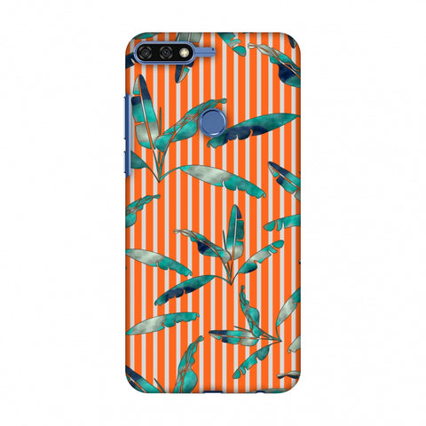 Gradiant Banana Leaves - Orange Slim Hard Shell Case For Huawei Honor 7C