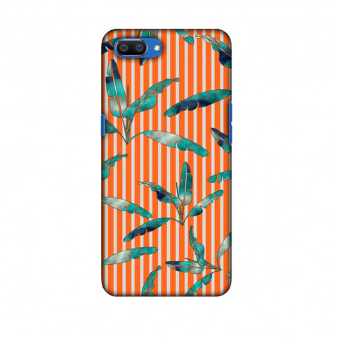 Gradiant Banana Leaves - Orange Slim Hard Shell Case For Oppo Realme C1