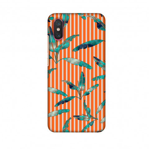 Gradiant Banana Leaves - Orange Slim Hard Shell Case For Xiaomi Mi 8 Pro