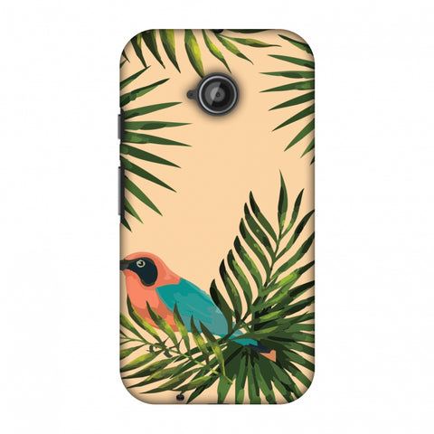 Homely Nature - Beige Slim Hard Shell Case For Motorola Moto E 2nd Gen