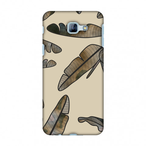 Lined Banana Leaves - Beige Slim Hard Shell Case For Samsung Galaxy A8 2016