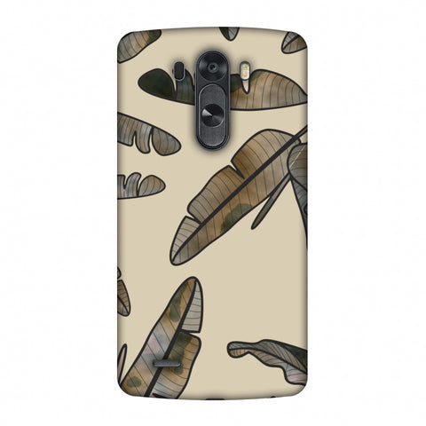 Lined Banana Leaves - Beige Slim Hard Shell Case For LG G4