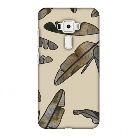 Lined Banana Leaves - Beige Slim Hard Shell Case For Asus Zenfone 3 ZE520KL