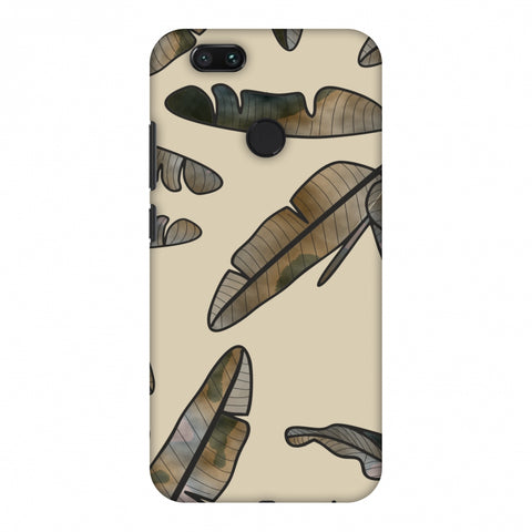 Lined Banana Leaves - Beige Slim Hard Shell Case For Xiaomi MI A1-5X