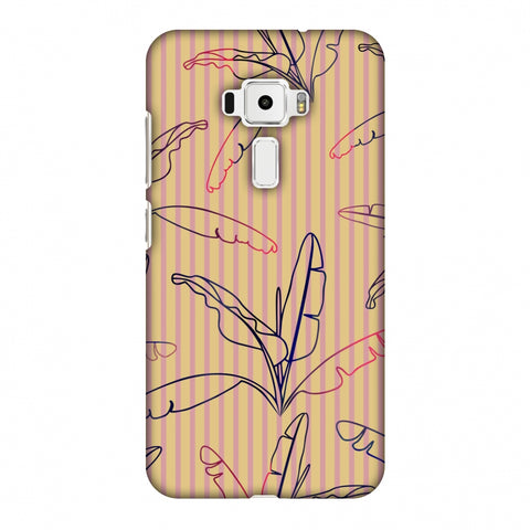 Outlined Banana Leaves - Beige Slim Hard Shell Case For Asus Zenfone 3 ZE520KL