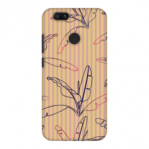 Outlined Banana Leaves - Beige Slim Hard Shell Case For Xiaomi MI A1-5X