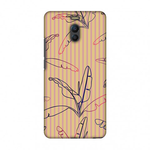 Outlined Banana Leaves - Beige Slim Hard Shell Case For Meizu Note 6