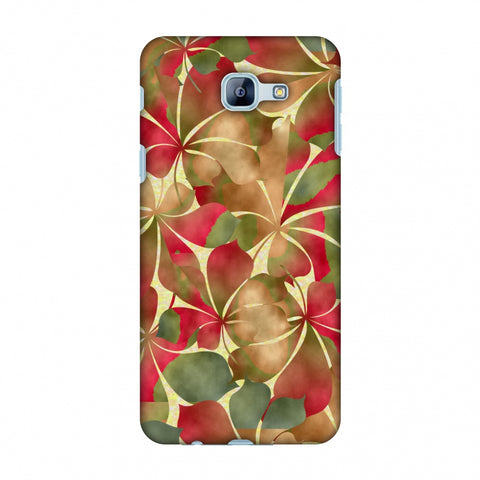 Overlapped Leaves - Green And Red Slim Hard Shell Case For Samsung Galaxy A8 2016