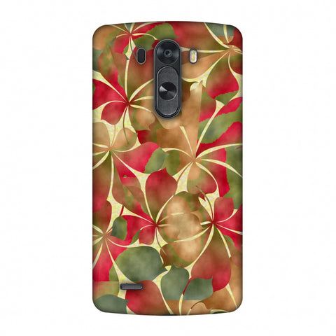 Overlapped Leaves - Green And Red Slim Hard Shell Case For LG G4