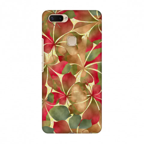 Overlapped Leaves - Green And Red Slim Hard Shell Case For Vivo X20 Plus