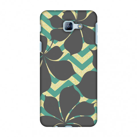 RAndom On Chevron - Yellow And Teal Slim Hard Shell Case For Samsung Galaxy A8 2016