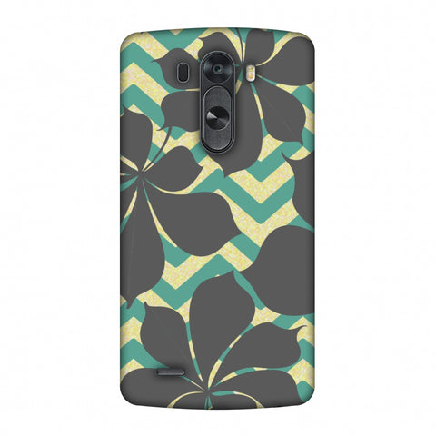 RAndom On Chevron - Yellow And Teal Slim Hard Shell Case For LG G4