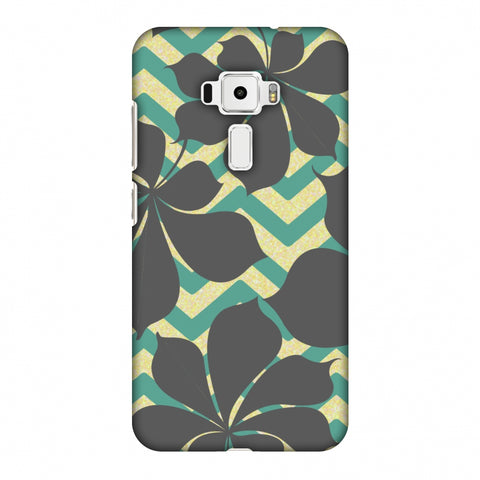 RAndom On Chevron - Yellow And Teal Slim Hard Shell Case For Asus Zenfone 3 ZE520KL