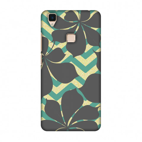 RAndom On Chevron - Yellow And Teal Slim Hard Shell Case For Vivo V3