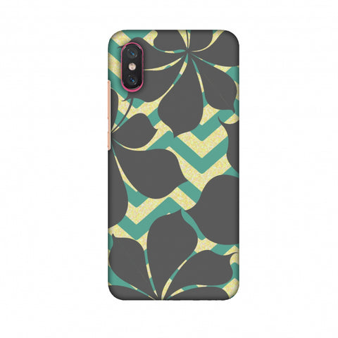RAndom On Chevron - Yellow And Teal Slim Hard Shell Case For Xiaomi Mi 8 Pro