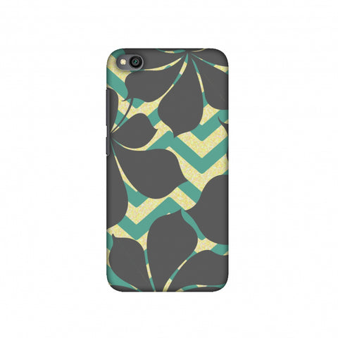 Random on Chevron - Yellow and Teal Slim Hard Shell Case For Redmi Go