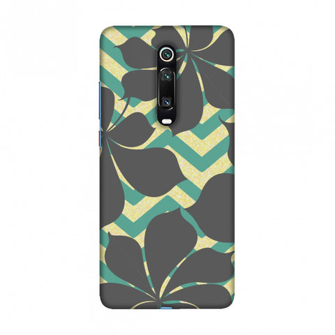 Random on Chevron - Yellow and Teal Slim Hard Shell Case For Redmi K20/K20 Pro