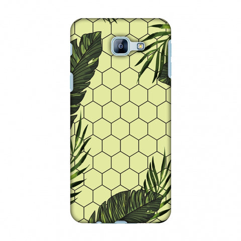 Tropical Leaves - Honey Yellow Slim Hard Shell Case For Samsung Galaxy A8 2016