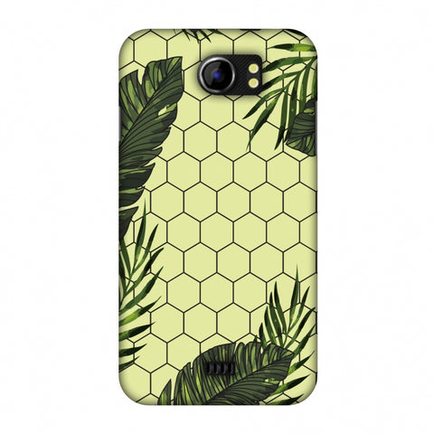 Tropical Leaves - Honey Yellow Slim Hard Shell Case For Micromax Canvas 2 A110