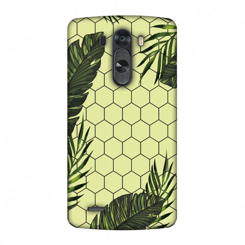 Tropical Leaves - Honey Yellow Slim Hard Shell Case For LG G4
