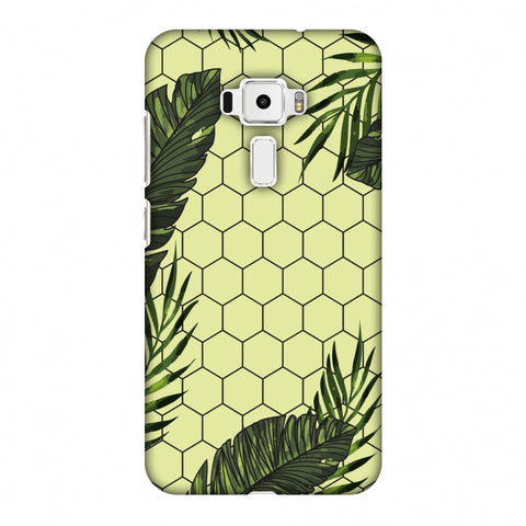 Tropical Leaves - Honey Yellow Slim Hard Shell Case For Asus Zenfone 3 ZE520KL