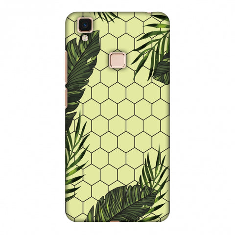 Tropical Leaves - Honey Yellow Slim Hard Shell Case For Vivo V3 Max