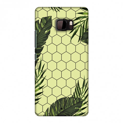 Tropical Leaves - Honey Yellow Slim Hard Shell Case For HTC U Ultra