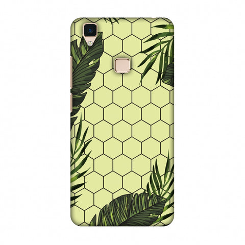 Tropical Leaves - Honey Yellow Slim Hard Shell Case For Vivo V3