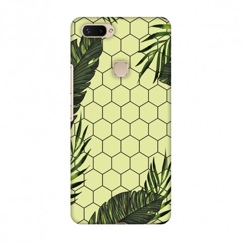 Tropical Leaves - Honey Yellow Slim Hard Shell Case For Vivo X20 Plus