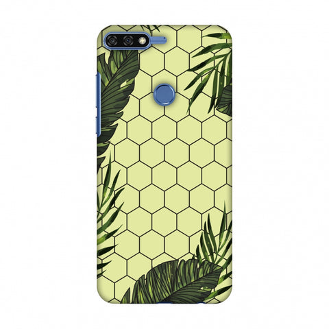 Tropical Leaves - Honey Yellow Slim Hard Shell Case For Huawei Honor 7C