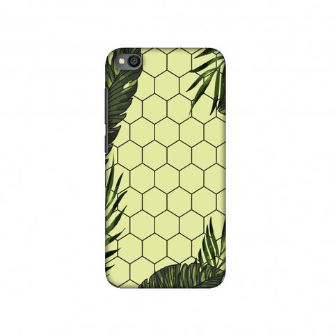 Tropical Leaves - Honey Yellow Slim Hard Shell Case For Redmi Go