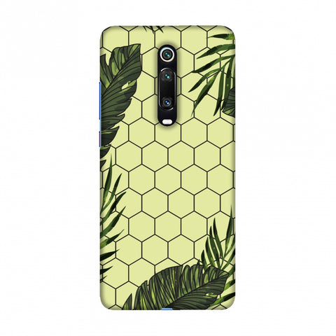 Tropical Leaves - Honey Yellow Slim Hard Shell Case For Redmi K20/K20 Pro