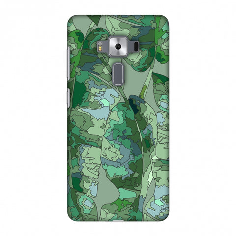 Tropically Pixelated - Teal Slim Hard Shell Case For Asus Zenfone 3 Deluxe ZS570KL