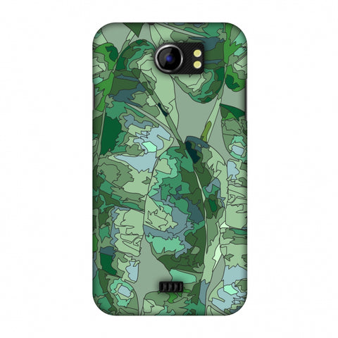 Tropically Pixelated - Teal Slim Hard Shell Case For Micromax Canvas 2 A110