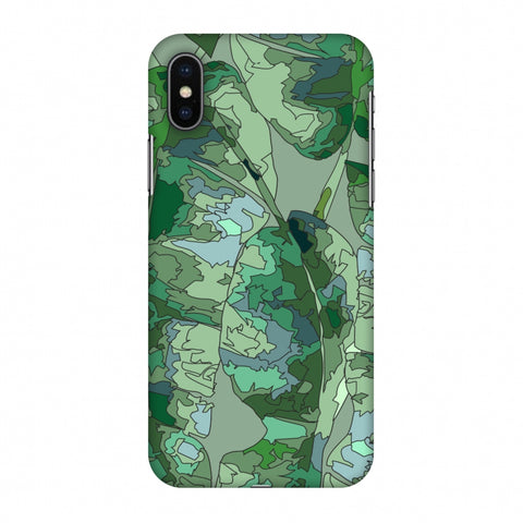 Tropically Pixelated - Teal Slim Hard Shell Case For Apple iPhone X