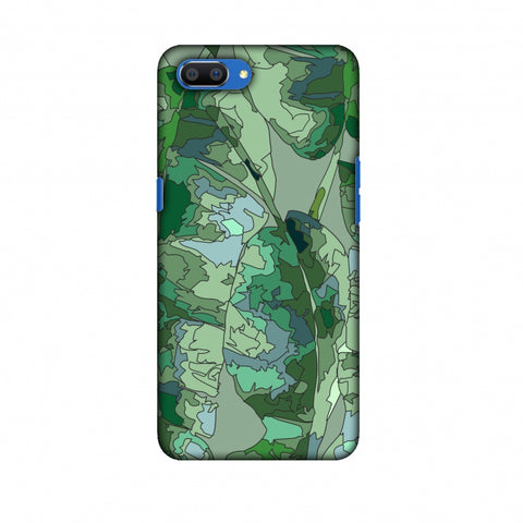 Tropically Pixelated - Teal Slim Hard Shell Case For Oppo Realme C1