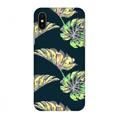 Vivid Tropical - Deep Teal Slim Hard Shell Case For Apple iPhone X