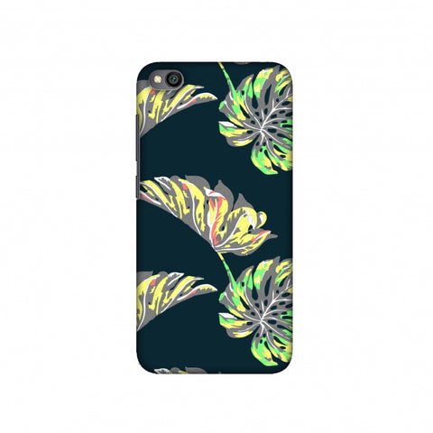 Vivid Tropical - Deep Teal Slim Hard Shell Case For Redmi Go
