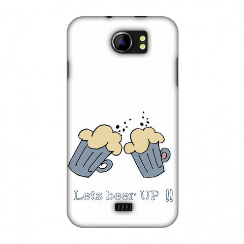 Let's Beer Up !! Slim Hard Shell Case For Micromax Canvas 2 A110