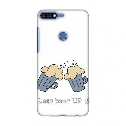 Let's Beer Up !! Slim Hard Shell Case For Huawei Honor 7C