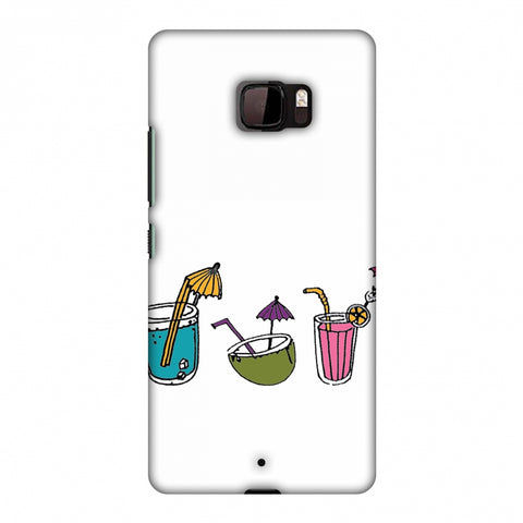 Summer Soothers - Transparent Slim Hard Shell Case For HTC U Ultra