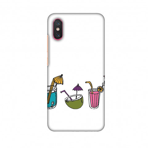 Summer Soothers - Transparent Slim Hard Shell Case For Xiaomi Mi 8 Pro