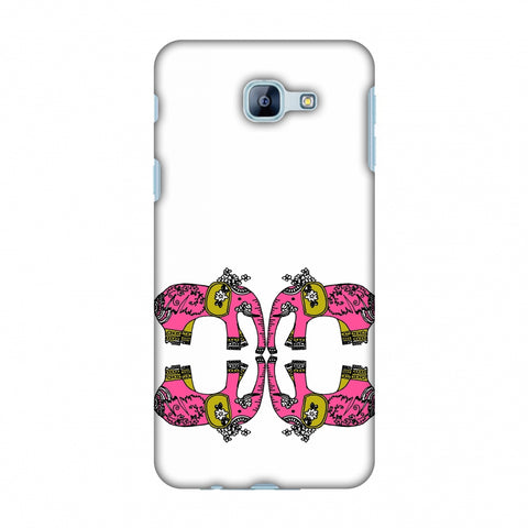 Elephant Repeats - Transparent Slim Hard Shell Case For Samsung Galaxy A8 2016