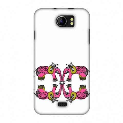 Elephant Repeats - Transparent Slim Hard Shell Case For Micromax Canvas 2 A110