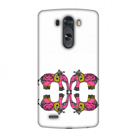 Elephant Repeats - Transparent Slim Hard Shell Case For LG G4