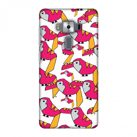 Toucan Doodles - Transparent Slim Hard Shell Case For Asus Zenfone 3 Deluxe ZS570KL