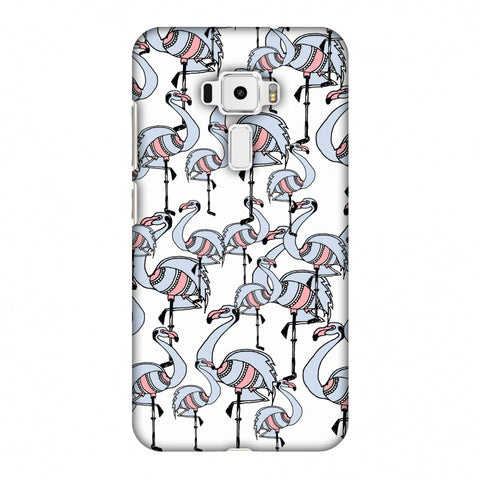 Flamingos - Transparent Slim Hard Shell Case For Asus Zenfone 3 ZE520KL