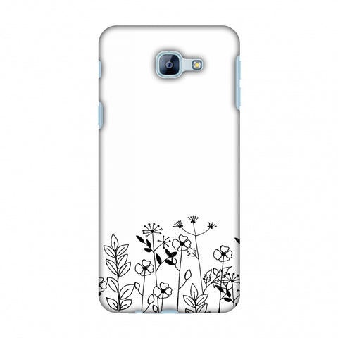 Floral Bunch - Transparent Slim Hard Shell Case For Samsung Galaxy A8 2016
